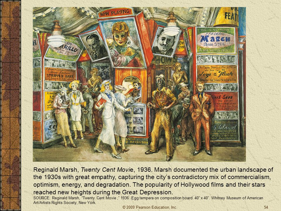 Reginald Marsh, Twenty Cent Movie, 1936