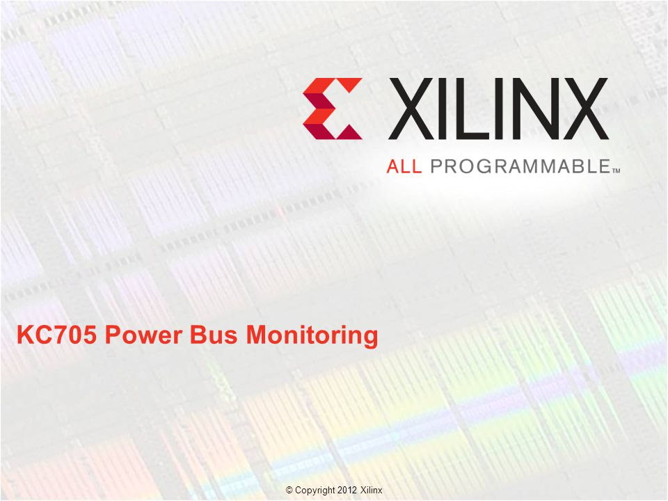 KC705 Power Bus Monitoring