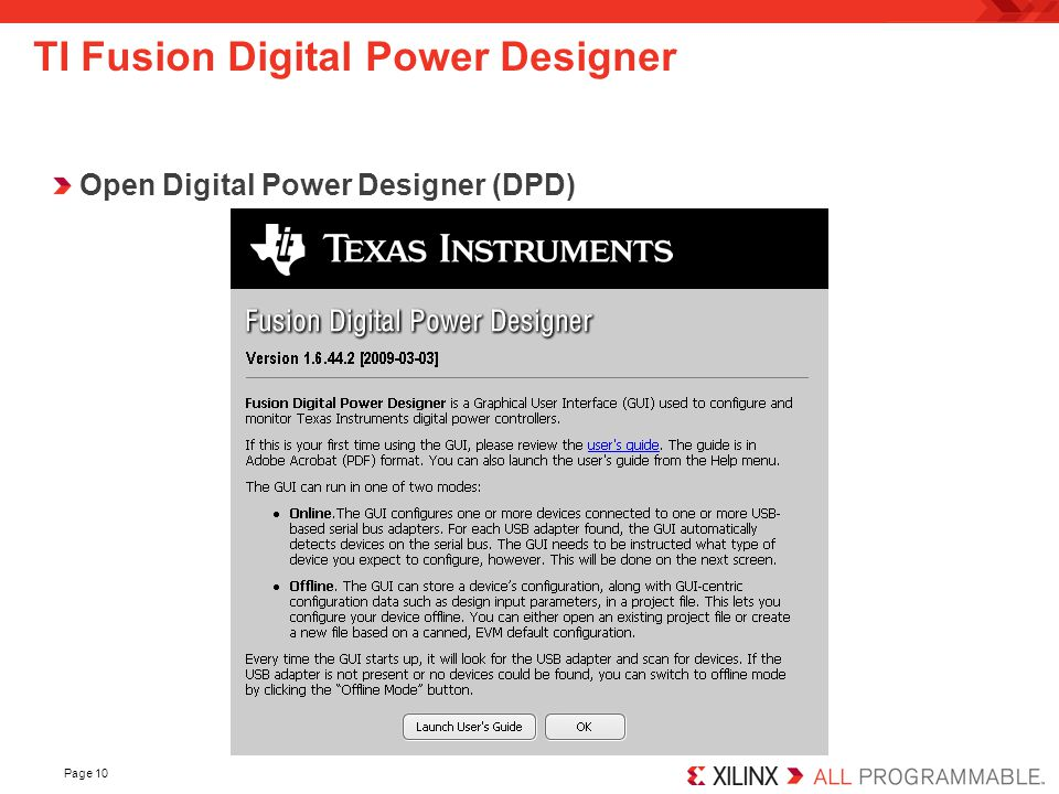 TI Fusion Digital Power Designer