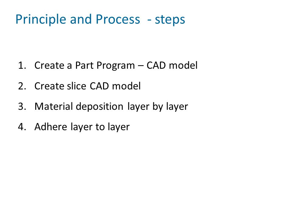 Principle and Process - steps