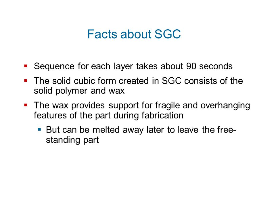 Facts about SGC Sequence for each layer takes about 90 seconds