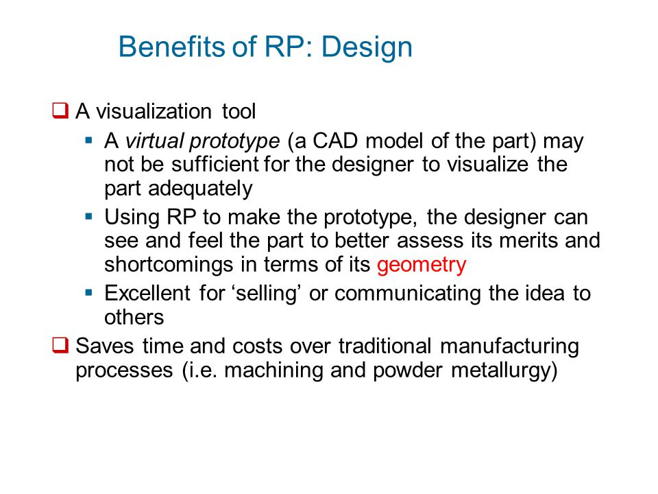 Benefits of RP: Design A visualization tool