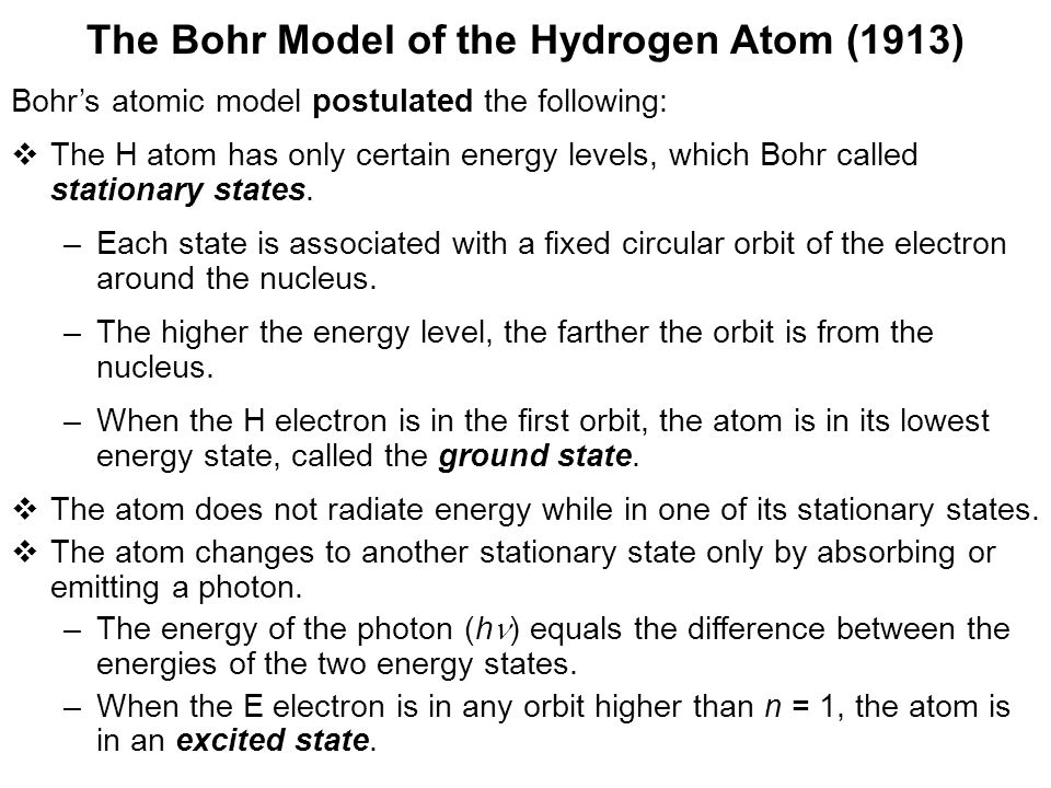The Bohr Model of the Hydrogen Atom (1913)