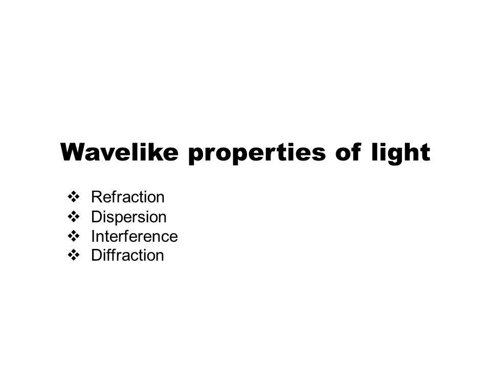 Wavelike properties of light