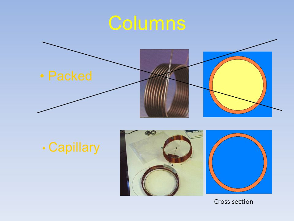 Columns Packed Capillary Cross section