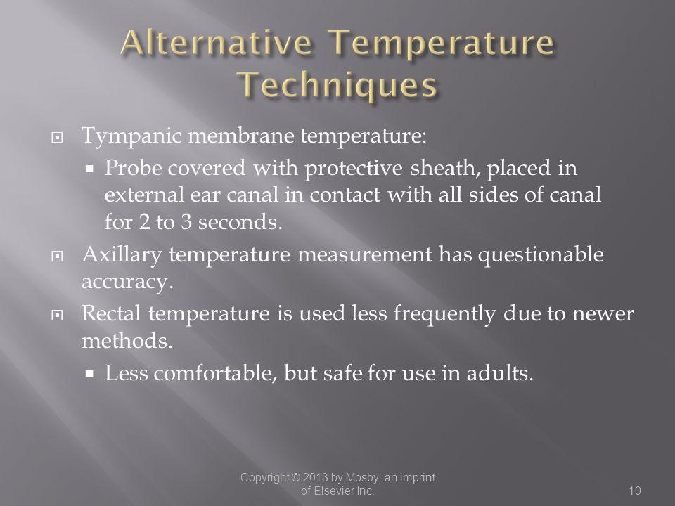 Alternative Temperature Techniques