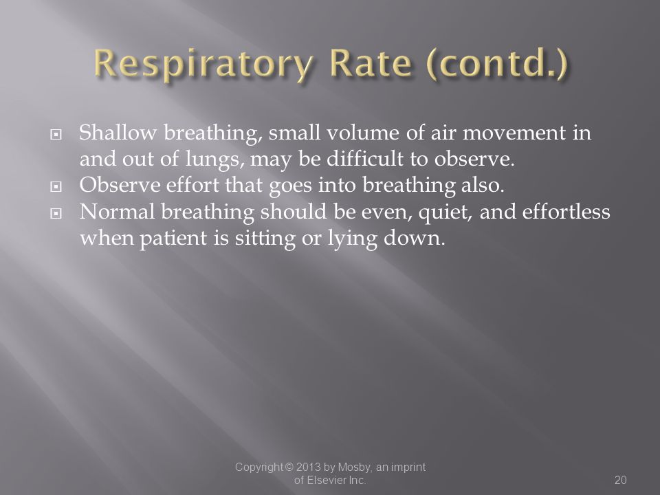Respiratory Rate (contd.)