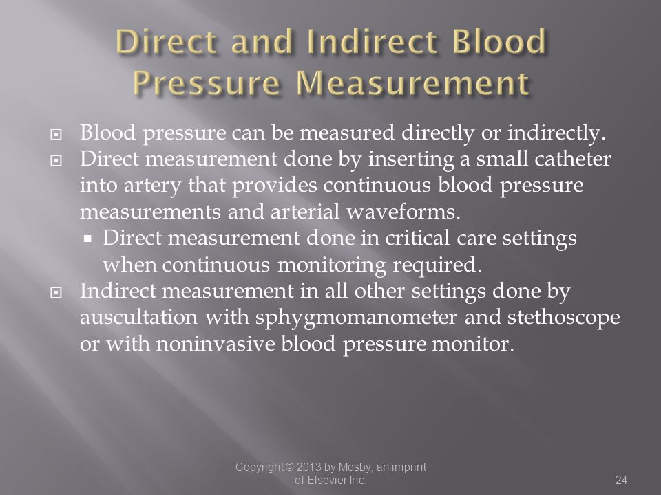 Direct and Indirect Blood Pressure Measurement