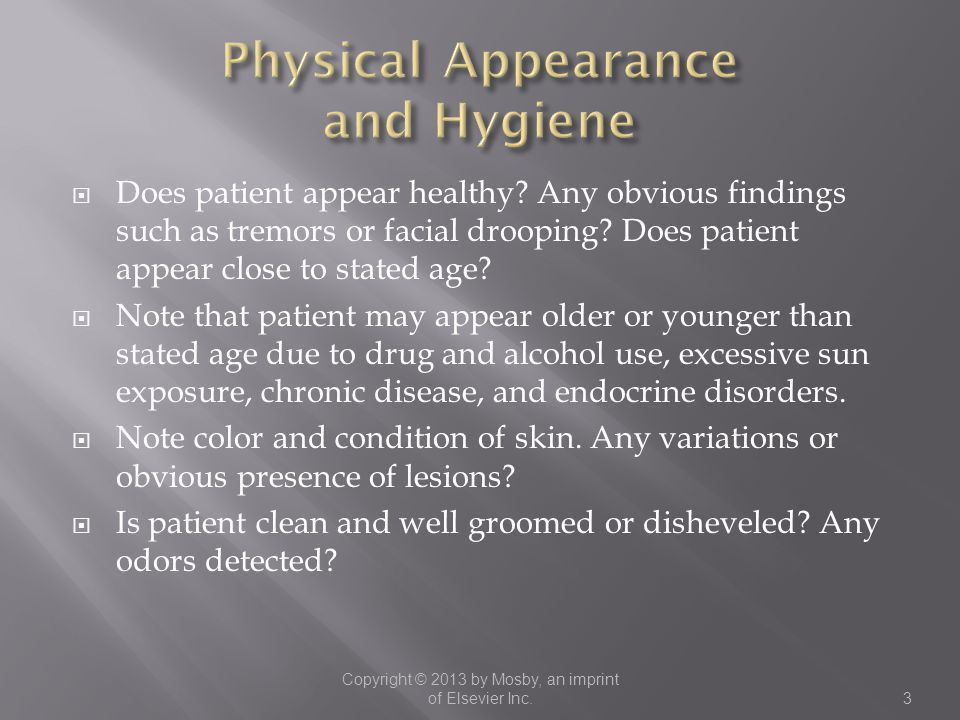 Physical Appearance and Hygiene