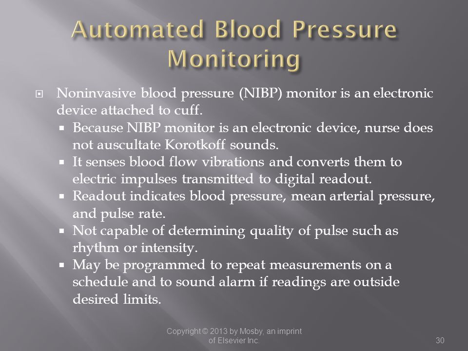 Automated Blood Pressure Monitoring