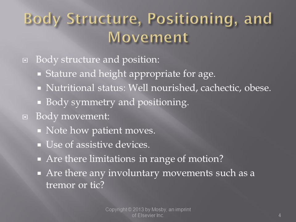 Body Structure, Positioning, and Movement
