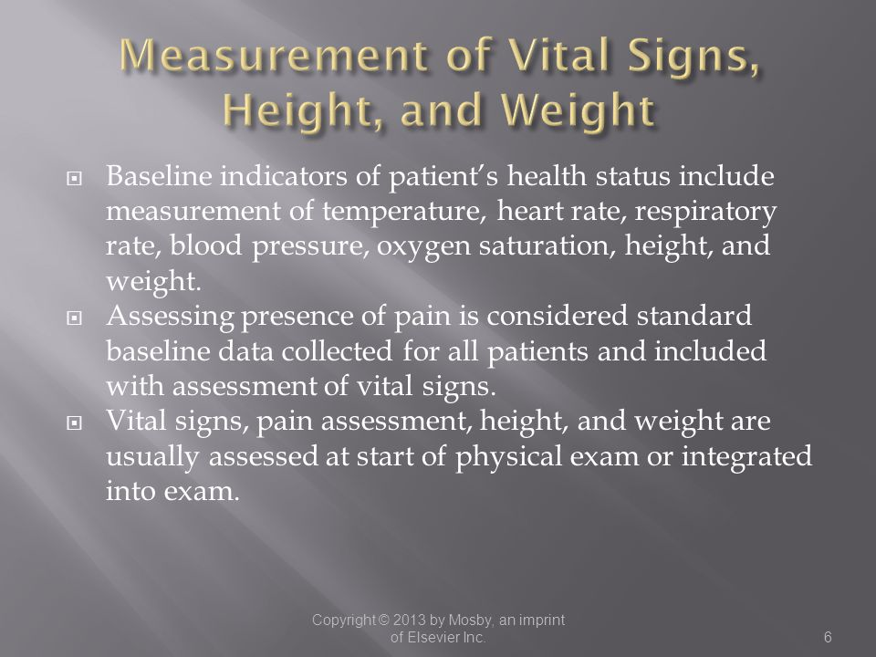 Measurement of Vital Signs, Height, and Weight