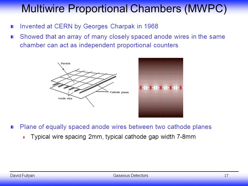 Multiwire Proportional Chambers (MWPC)