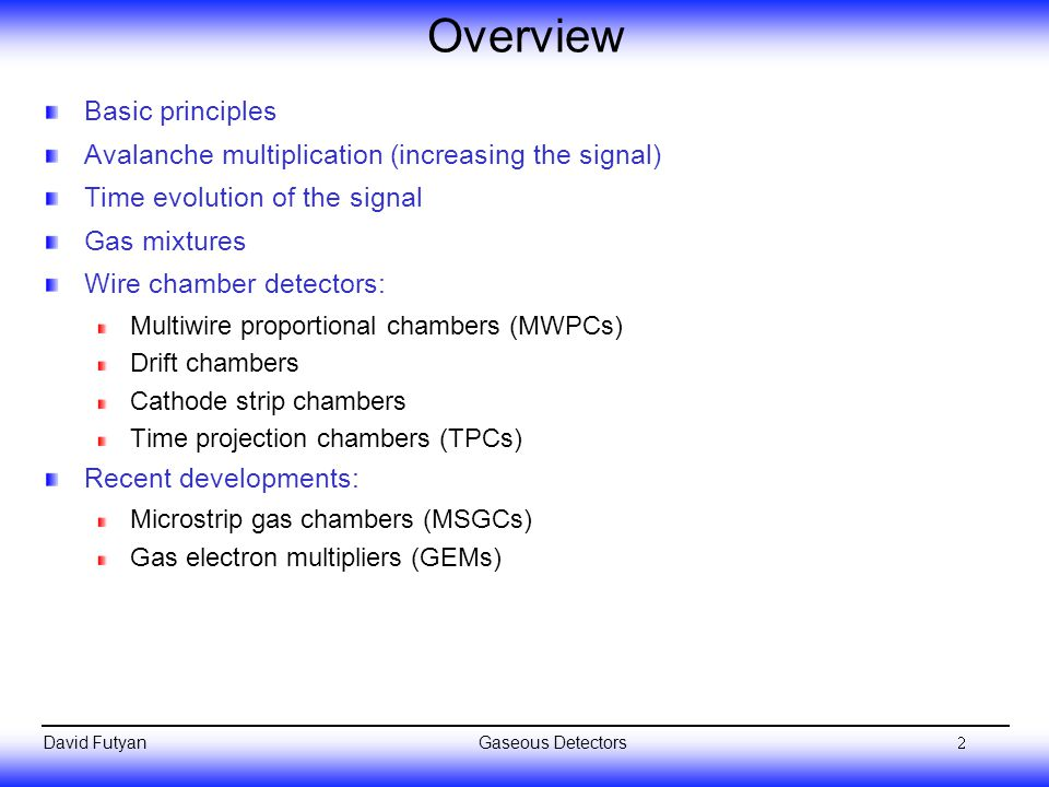 Overview Basic principles