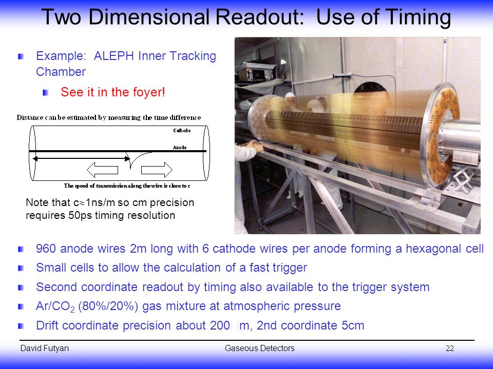 Two Dimensional Readout: Use of Timing