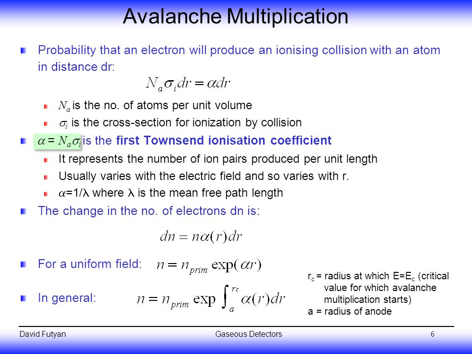 Avalanche Multiplication