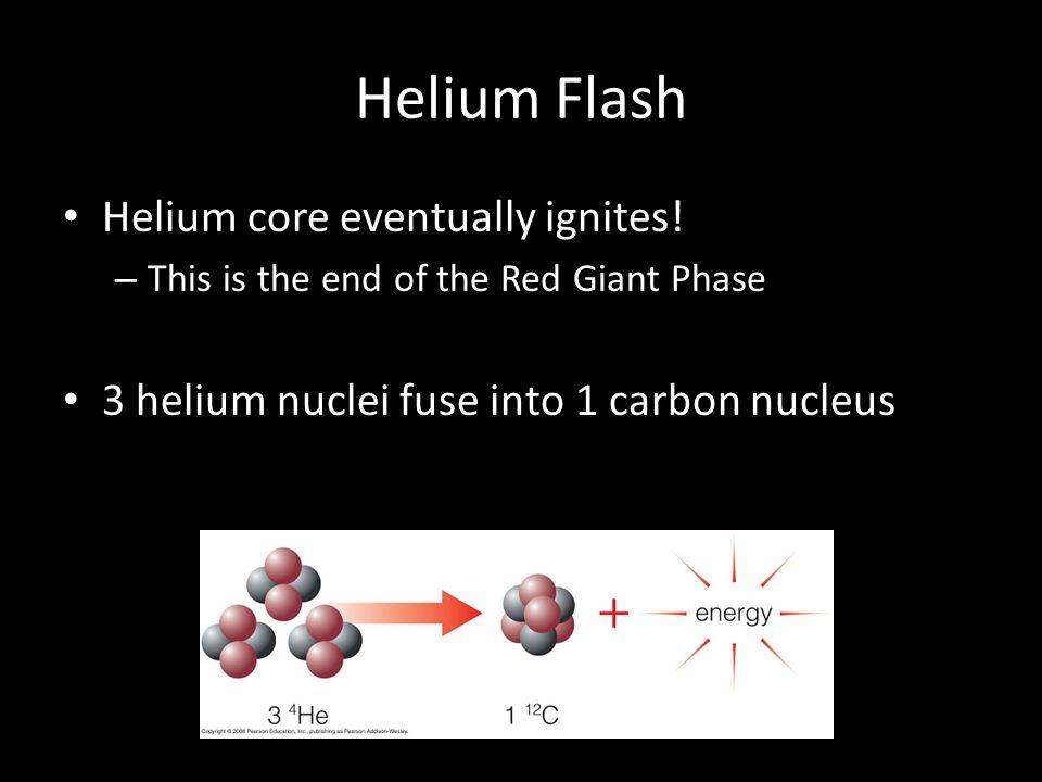 Helium Flash Helium core eventually ignites!