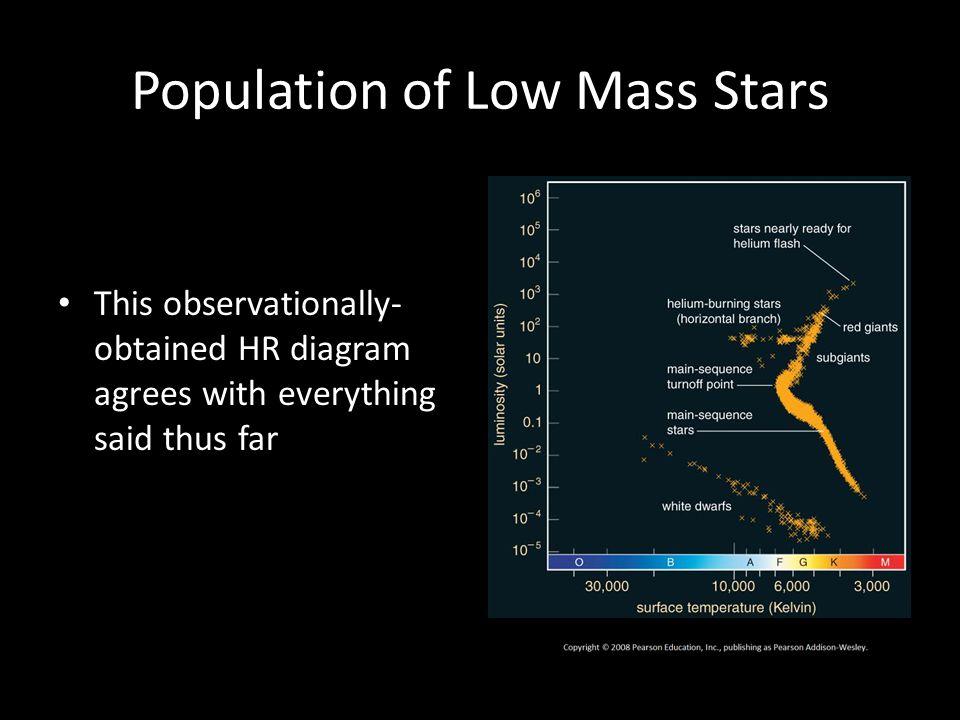 Population of Low Mass Stars