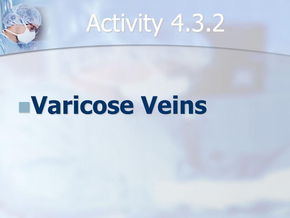Activity 4.3.2 Varicose Veins