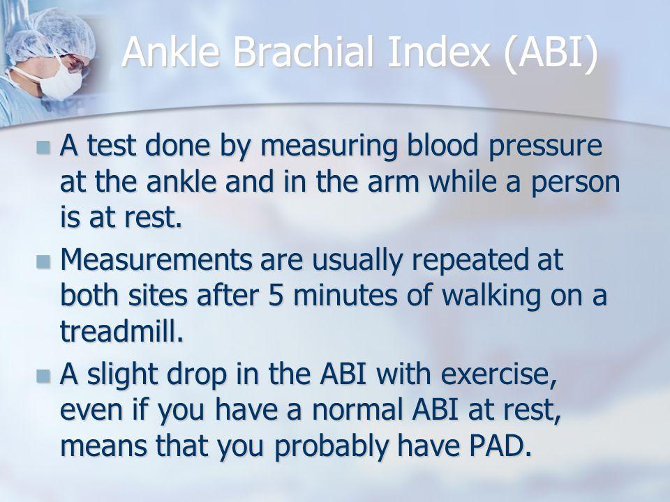 Ankle Brachial Index (ABI)