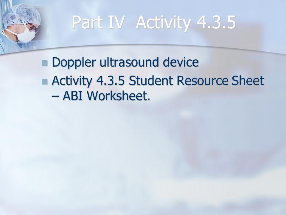 Part IV Activity 4.3.5 Doppler ultrasound device