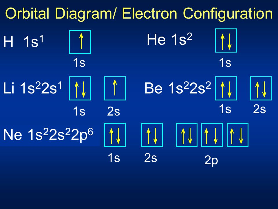 Orbital Diagram/ Electron Configuration