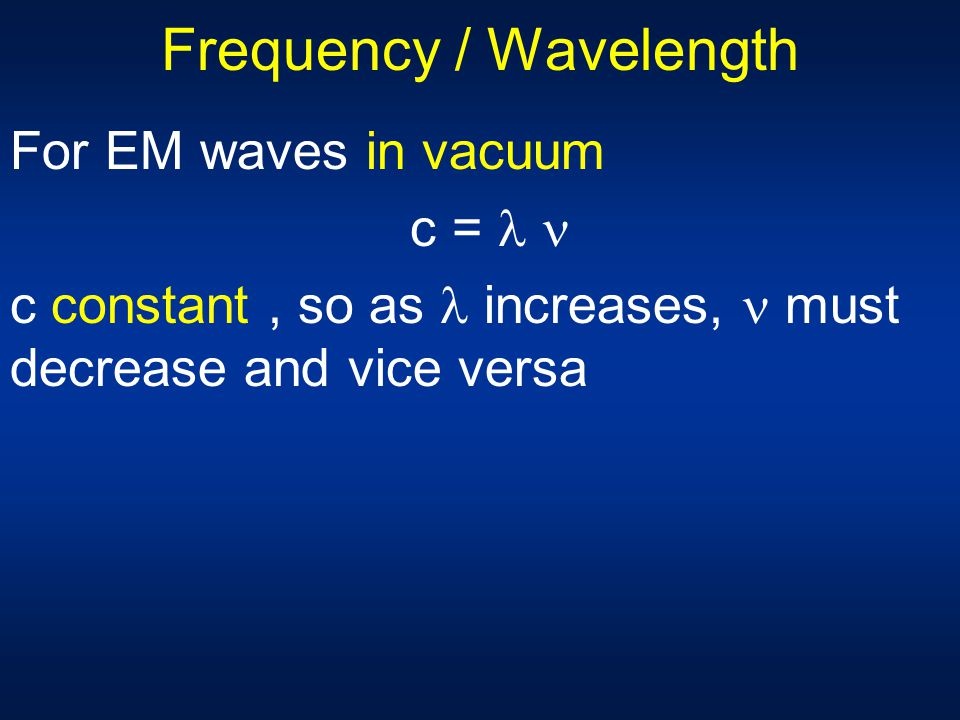 Frequency / Wavelength