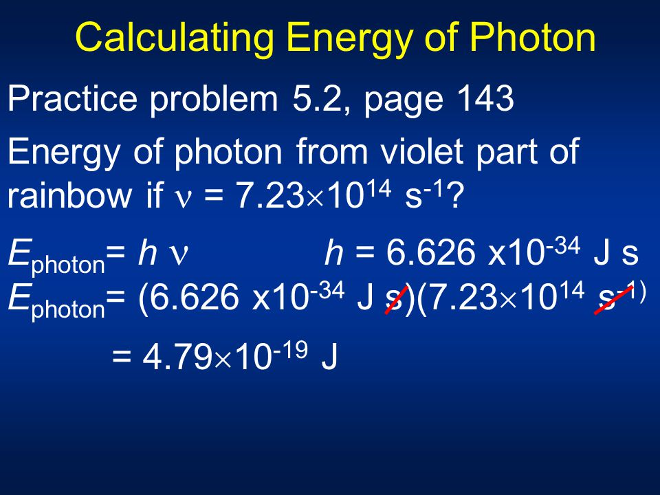 Calculating Energy of Photon