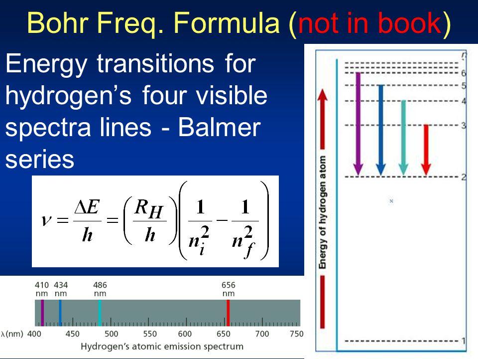 Bohr Freq. Formula (not in book)
