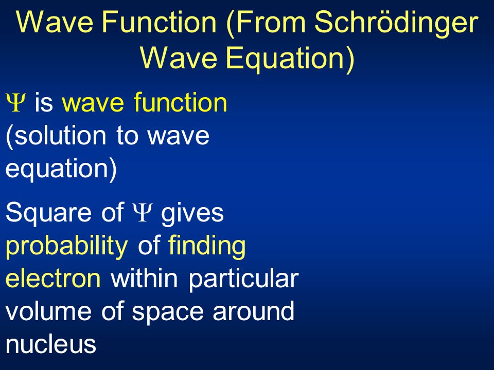 Wave Function (From Schrödinger Wave Equation)