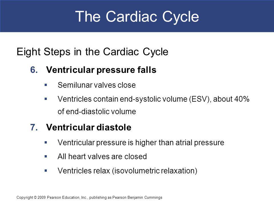 The Cardiac Cycle Eight Steps in the Cardiac Cycle