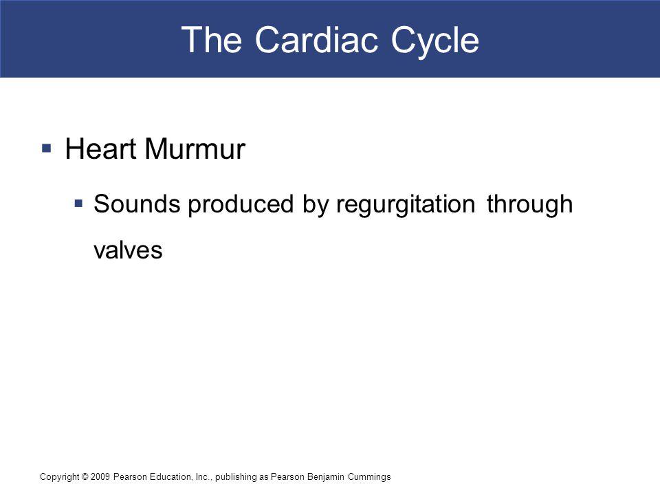 The Cardiac Cycle Heart Murmur