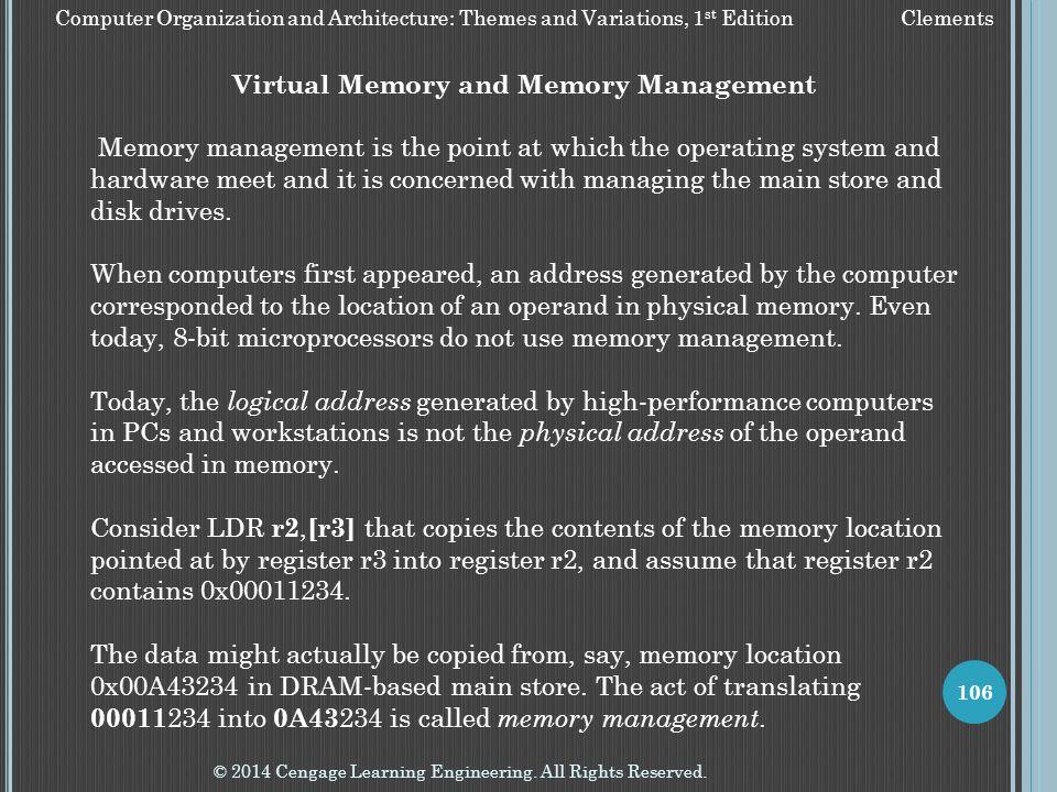 Virtual Memory and Memory Management