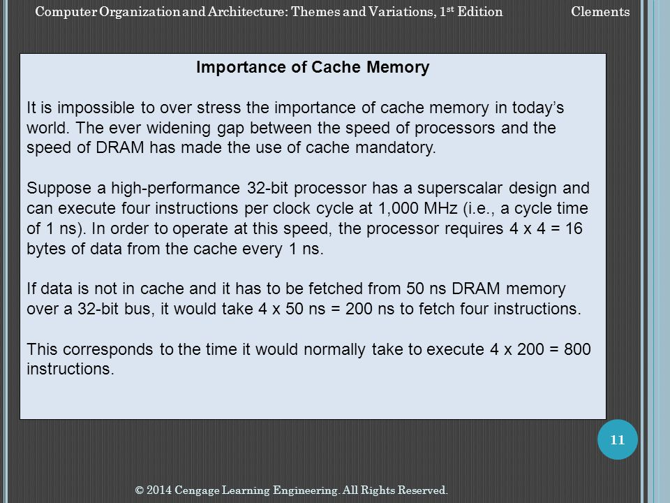 Importance of Cache Memory