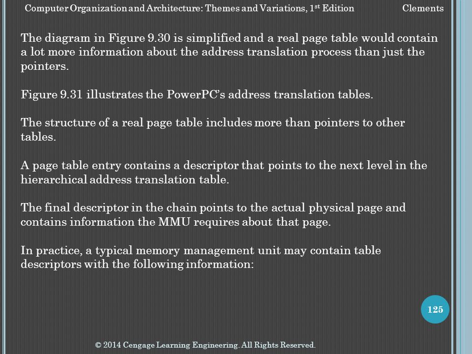 Figure 9.31 illustrates the PowerPC's address translation tables.