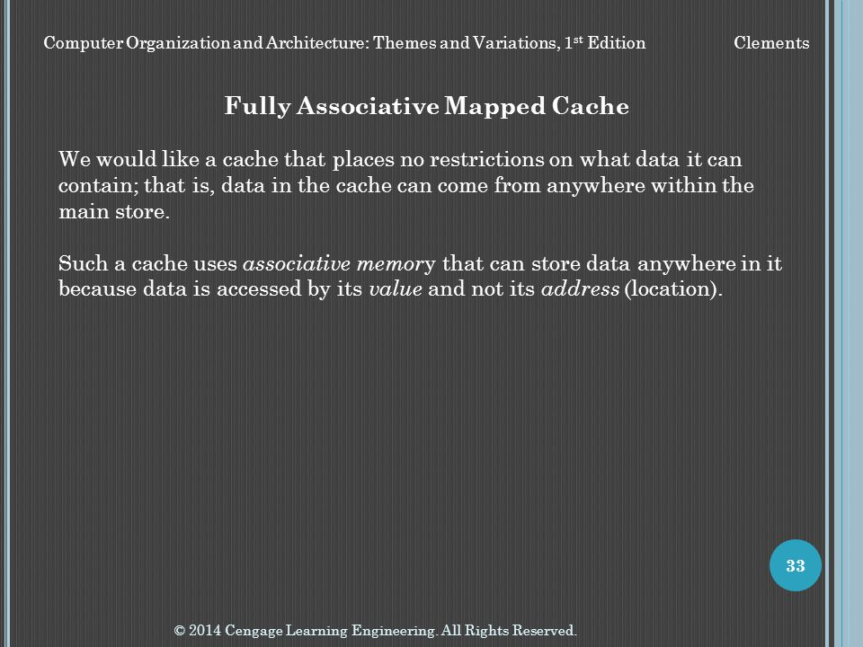 Fully Associative Mapped Cache