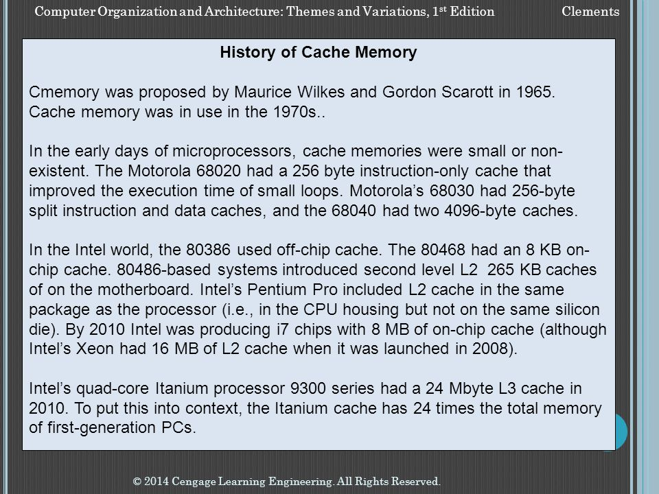 History of Cache Memory