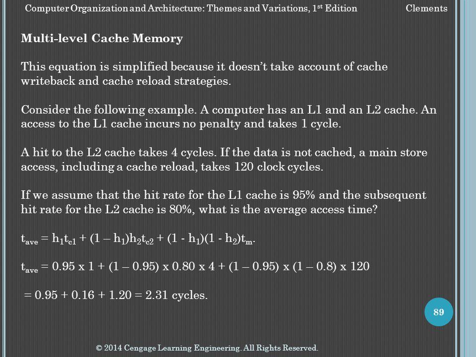 Multi-level Cache Memory