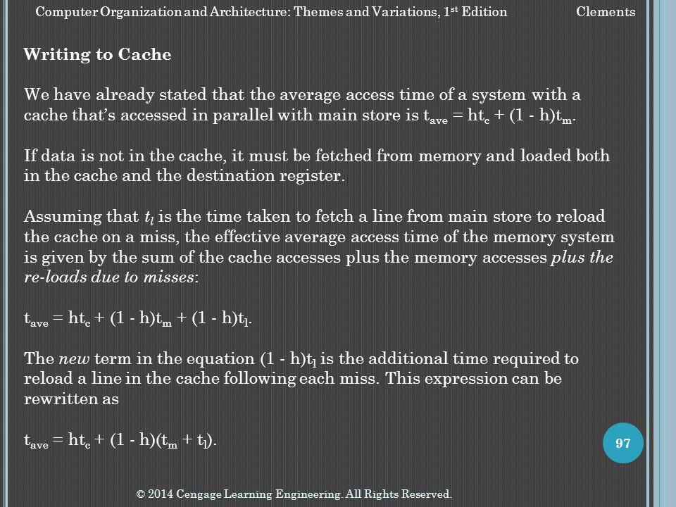 tave = htc + (1 - h)tm + (1 - h)tl.