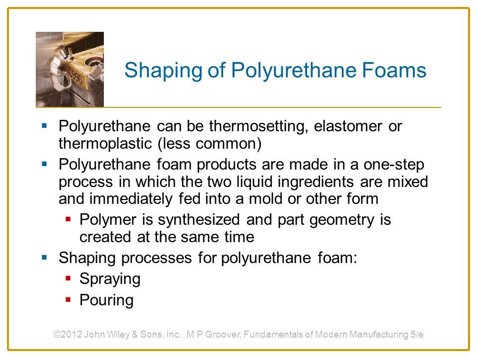 Shaping of Polyurethane Foams