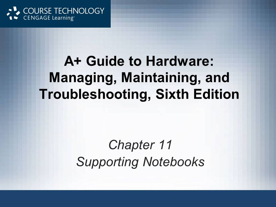 Chapter 11 Supporting Notebooks