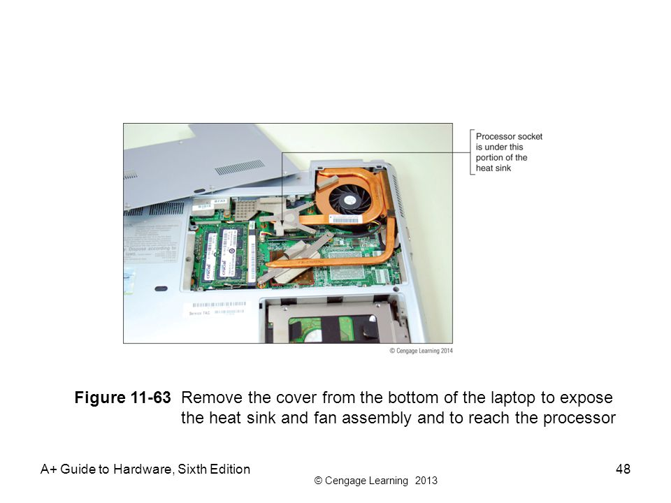 Figure 11-63 Remove the cover from the bottom of the laptop to expose