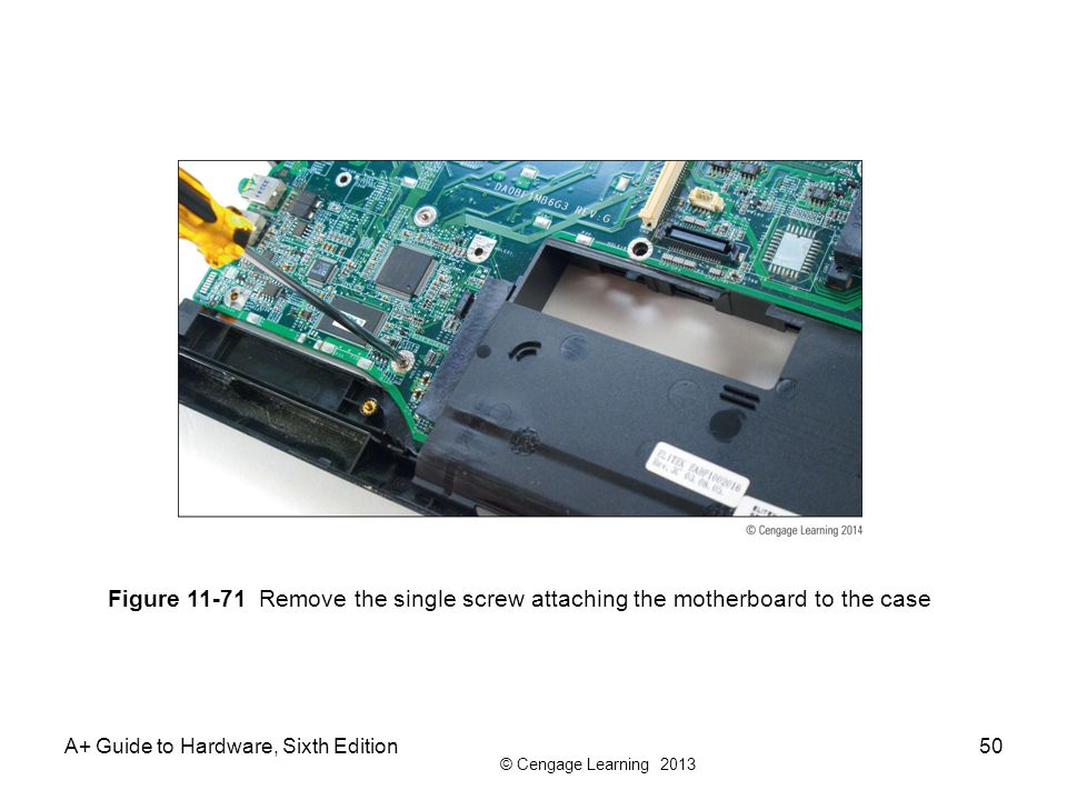 Figure 11-71 Remove the single screw attaching the motherboard to the case