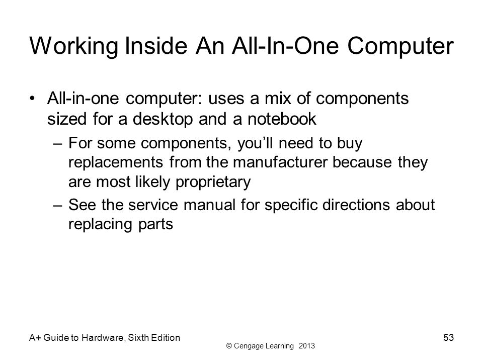 Working Inside An All-In-One Computer