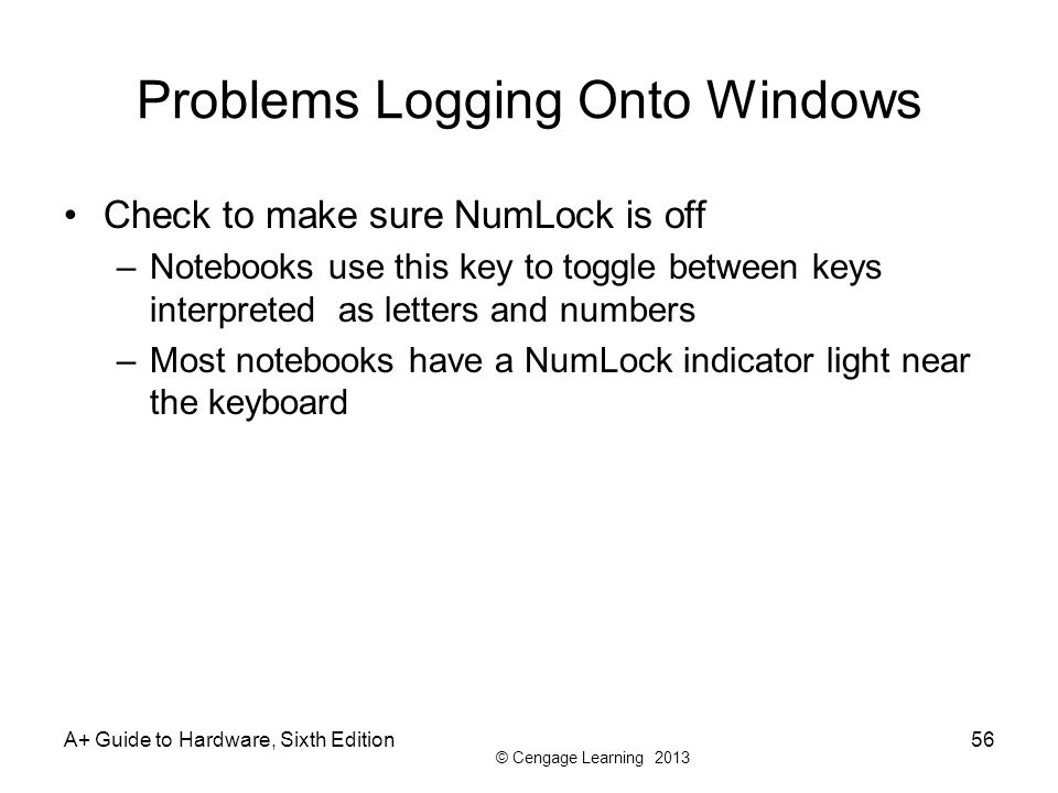 Problems Logging Onto Windows