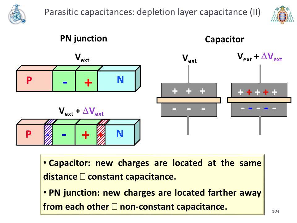 Parasitic capacitances: depletion layer capacitance (II)