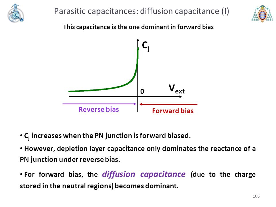 This capacitance is the one dominant in forward bias