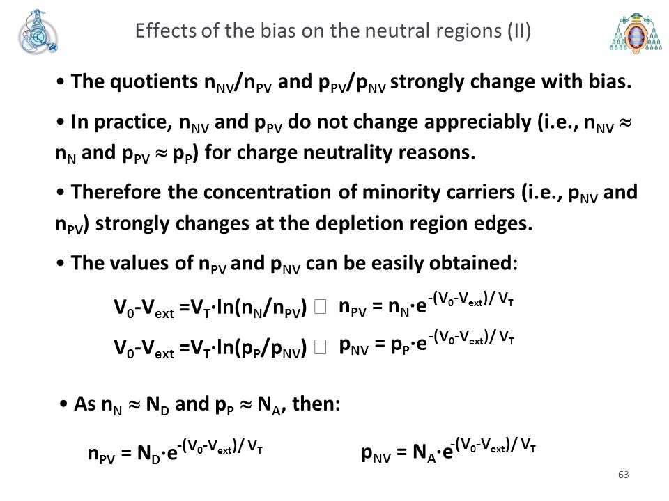 Effects of the bias on the neutral regions (II)