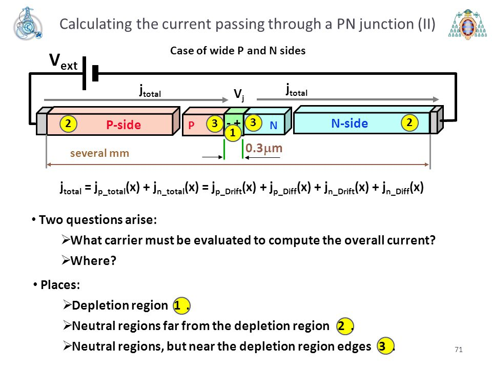 Calculating the current passing through a PN junction (II)