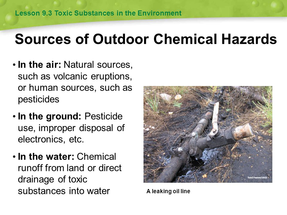 Sources of Outdoor Chemical Hazards